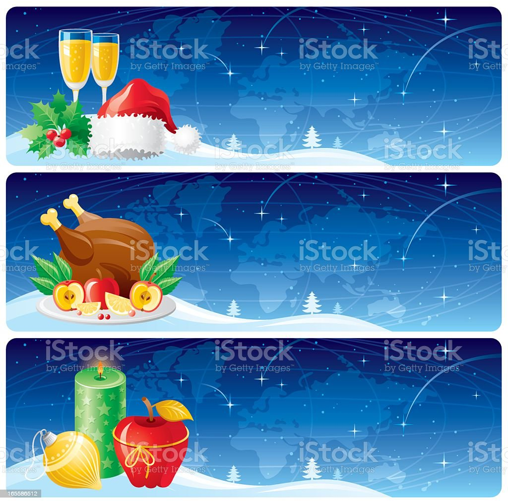 Christmas goes to the Earth royalty-free stock vector art