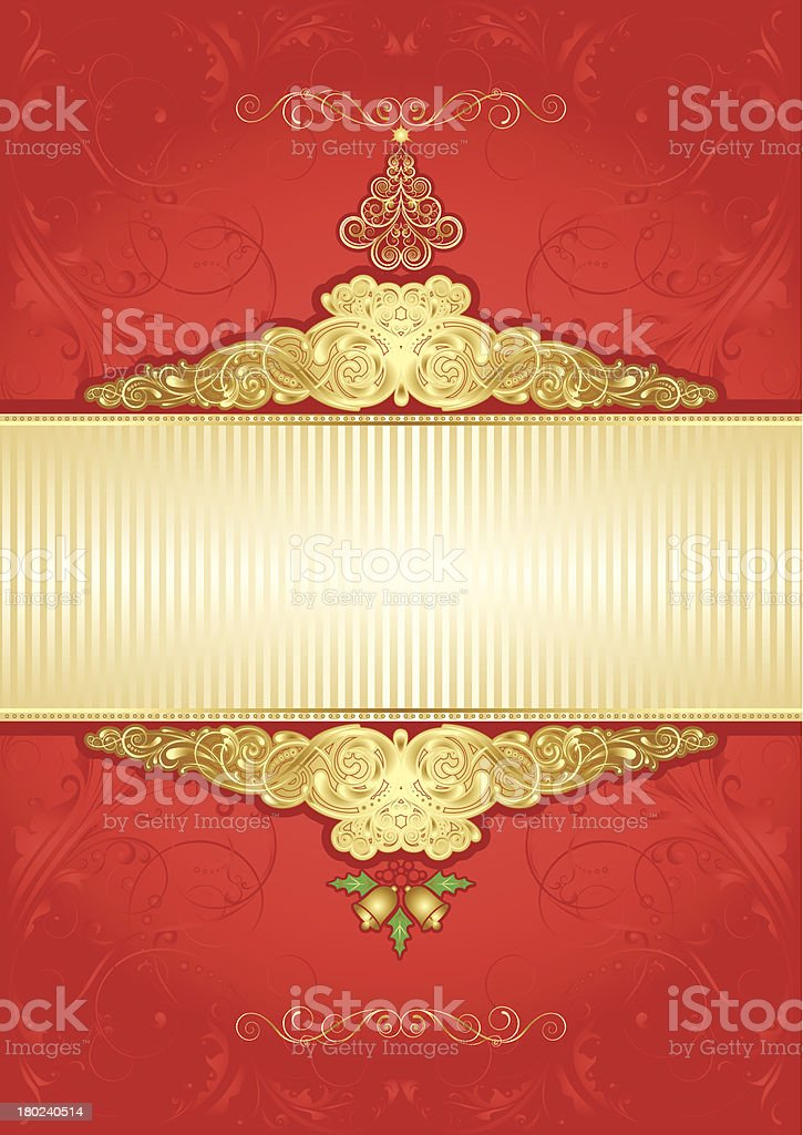 Christmas gold background royalty-free stock vector art