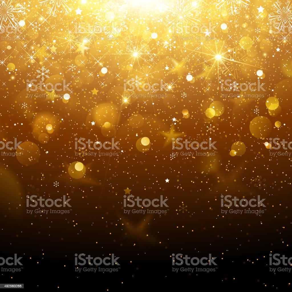 Christmas Gold Background vector art illustration