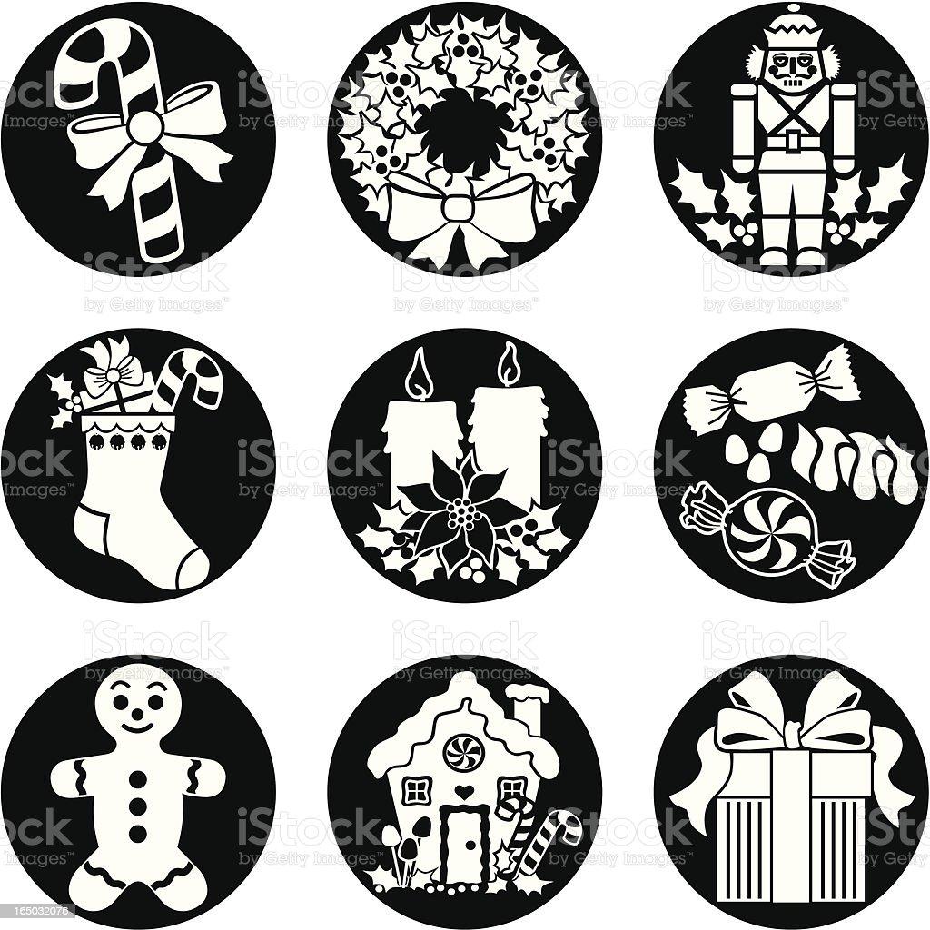 Christmas goodies reversed royalty-free stock vector art