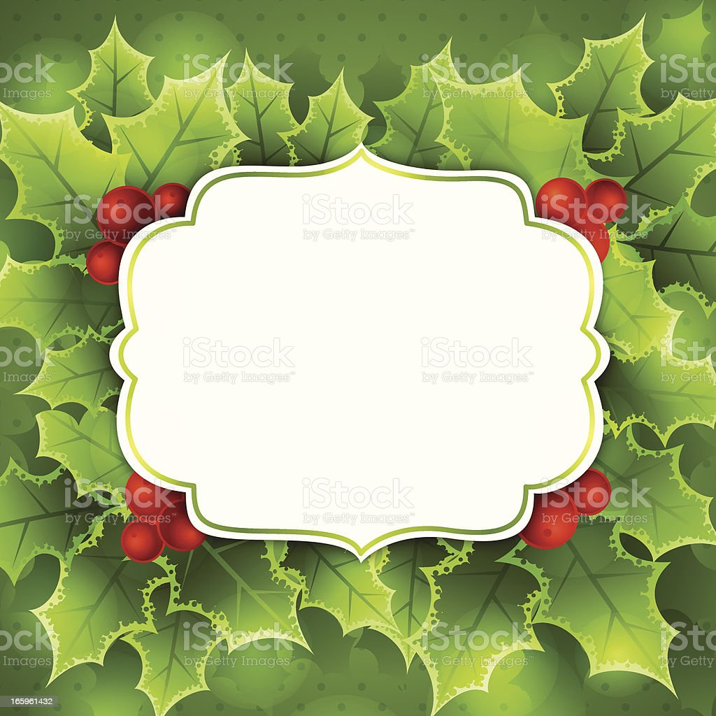 Christmas Greeting Background royalty-free stock vector art
