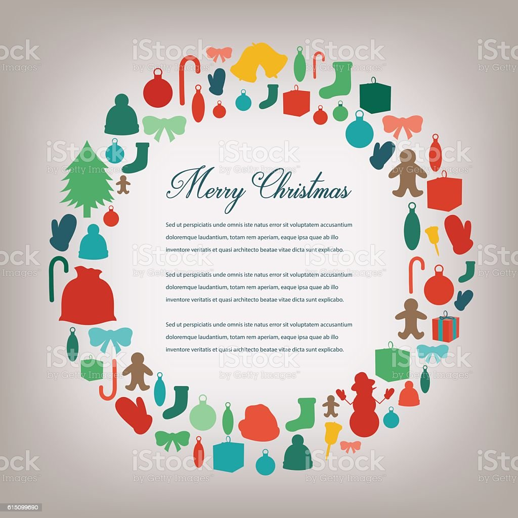 Christmas Greeting Card. Merry Christmas. Vector royalty-free stock vector art