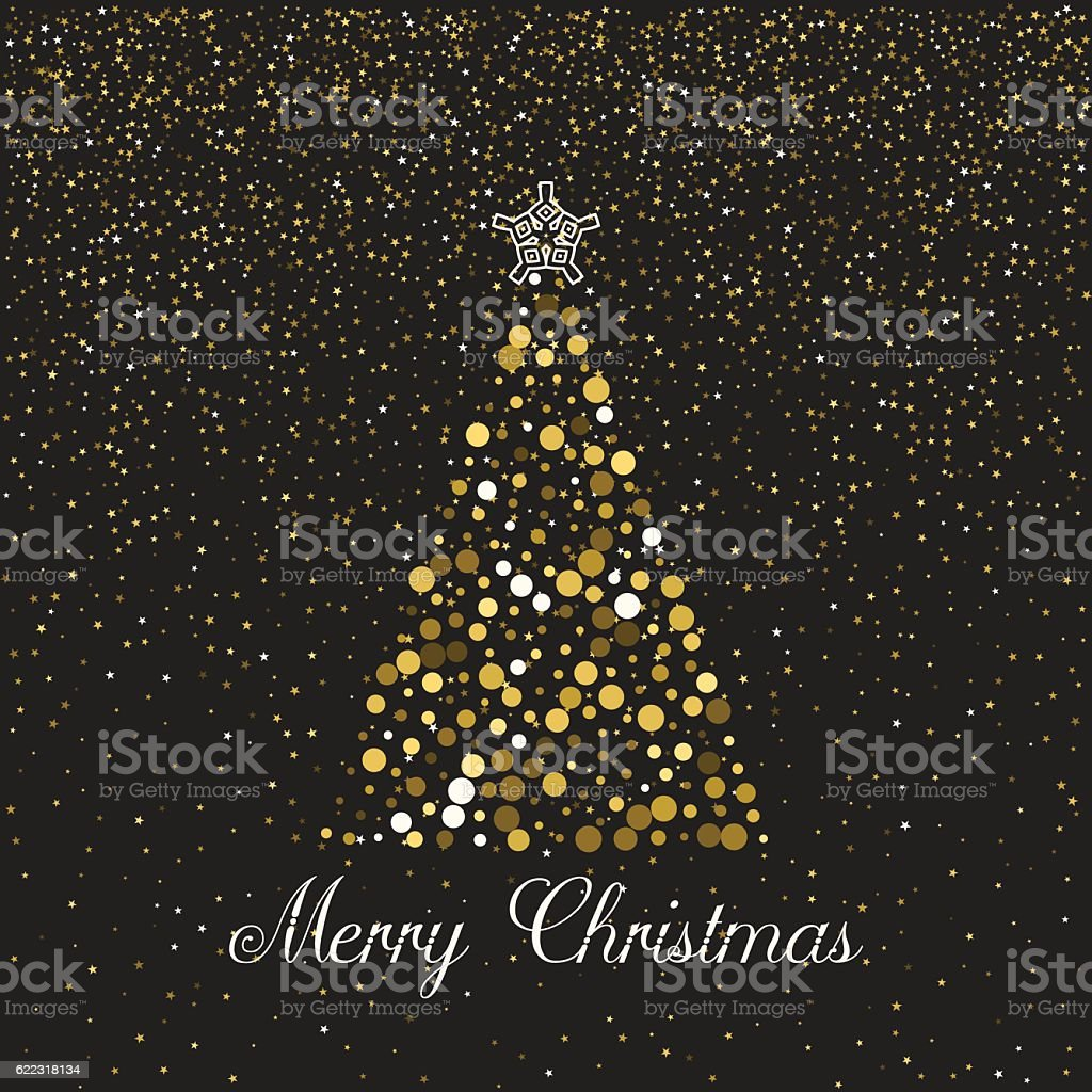 Christmas greeting card template. vector art illustration