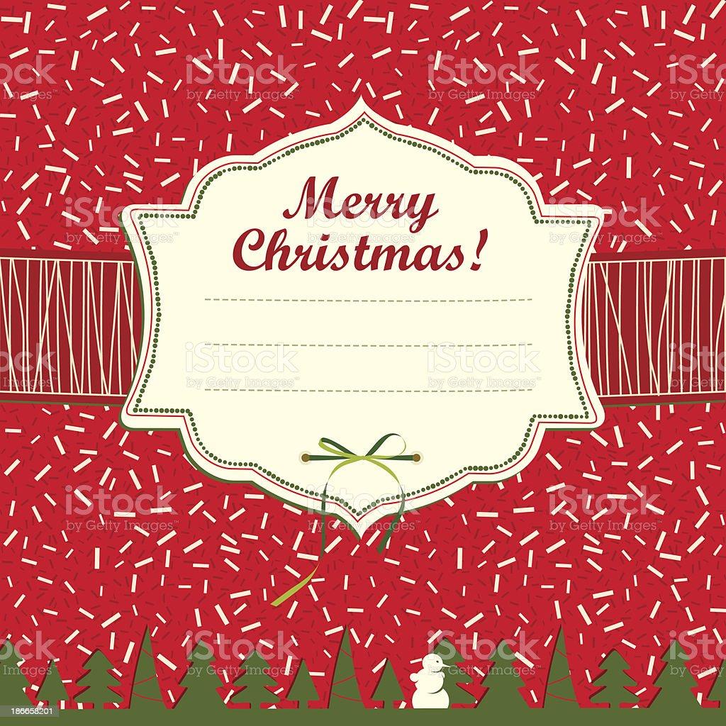 Christmas Greeting Card. royalty-free stock vector art