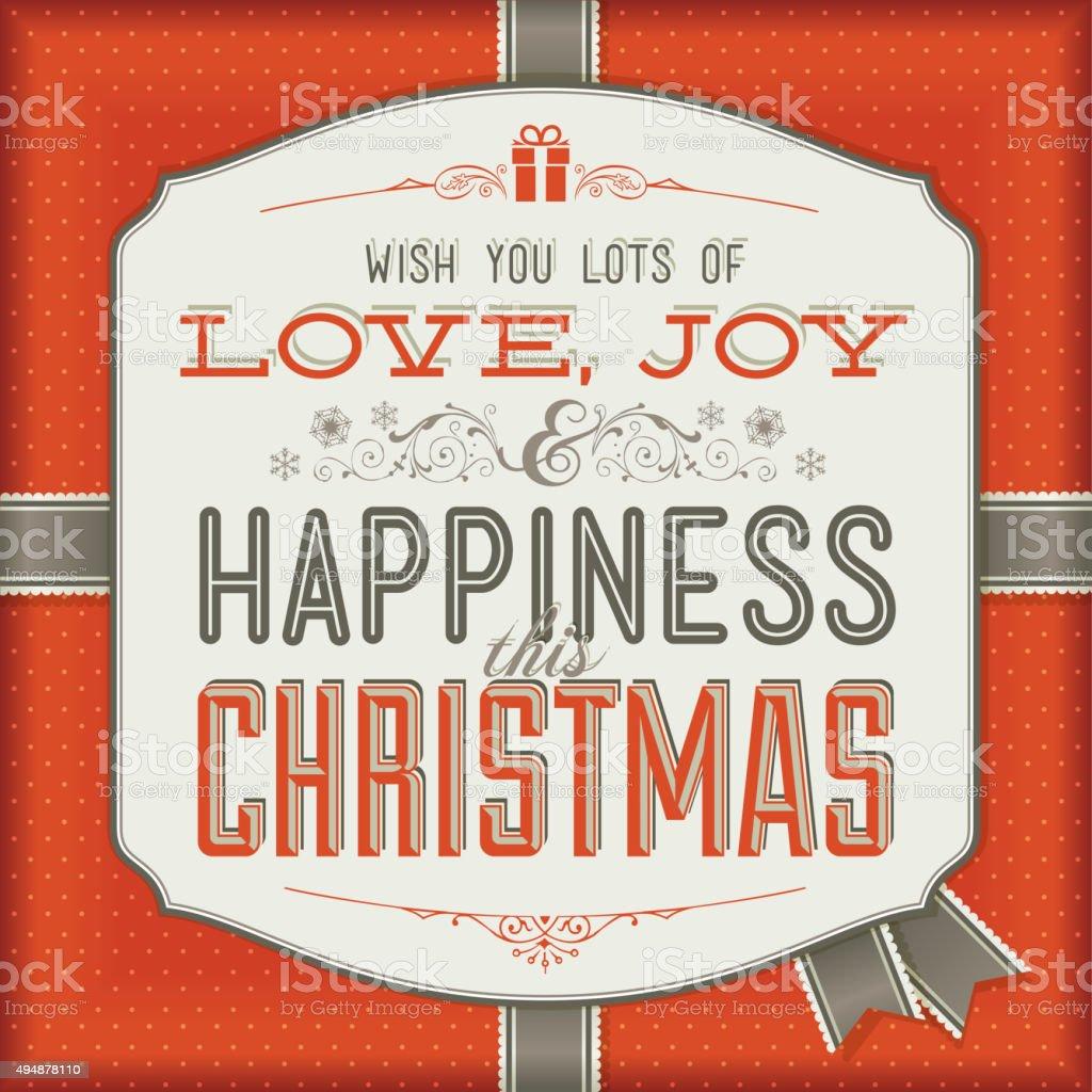 Tarjeta de felicitación de Navidad illustracion libre de derechos libre de derechos