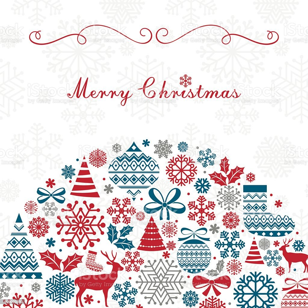 Christmas Greeting Card. vector art illustration