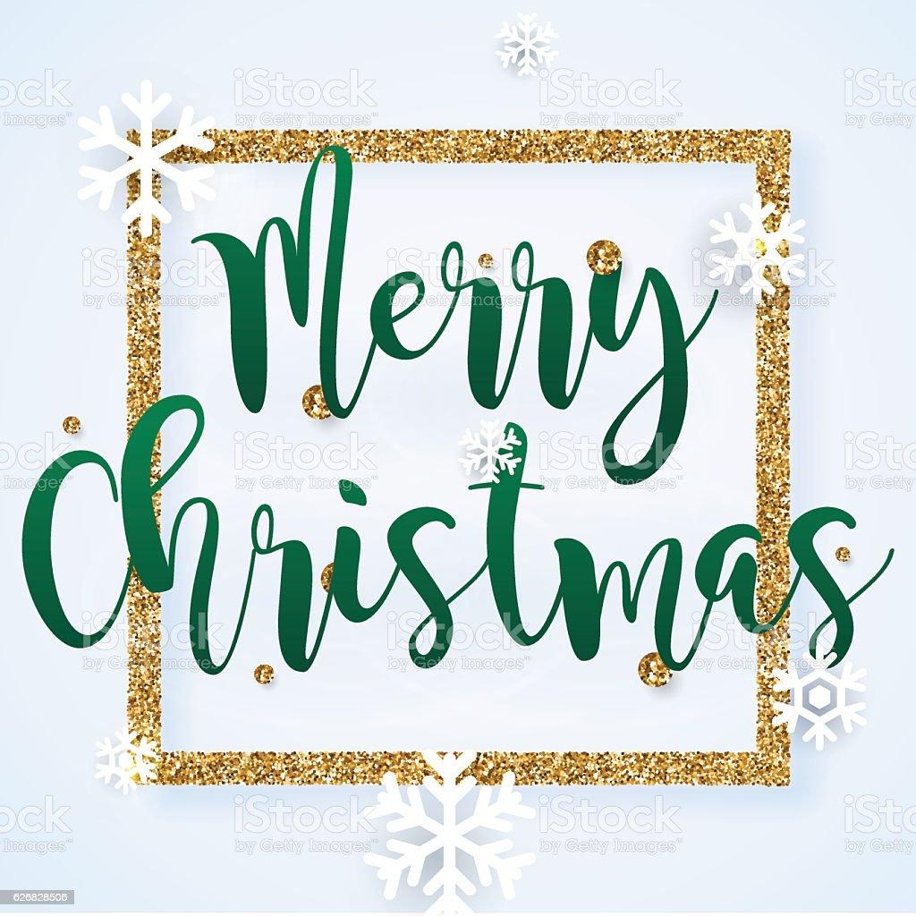 Christmas Greeting Card. Vector realistic volumetric background vector art illustration