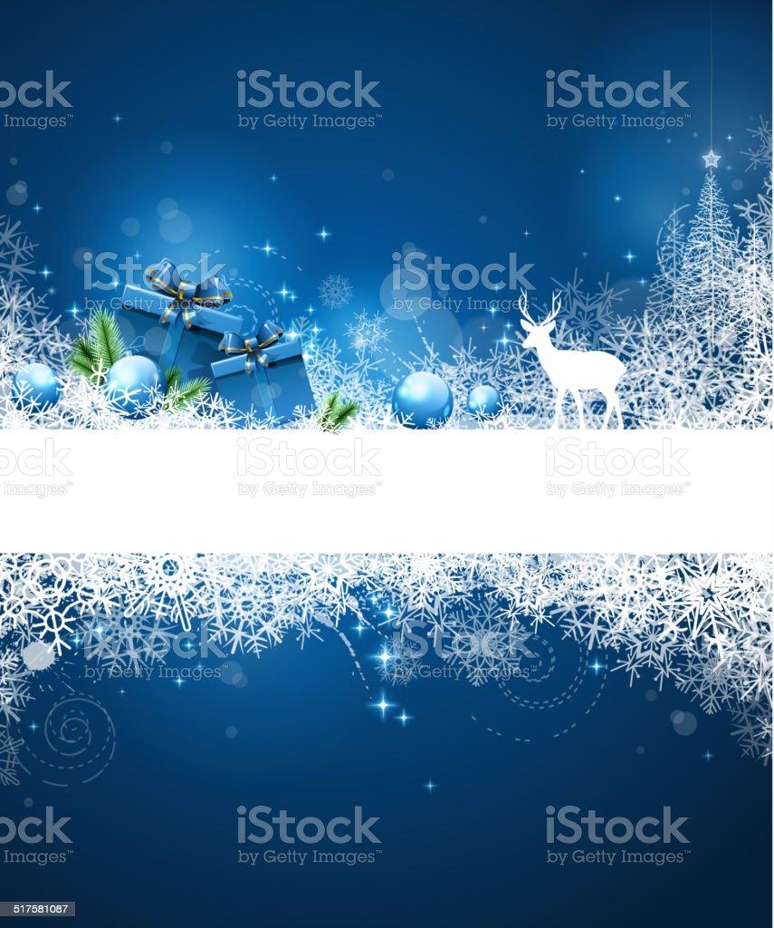 christmas greeting gift vector art illustration