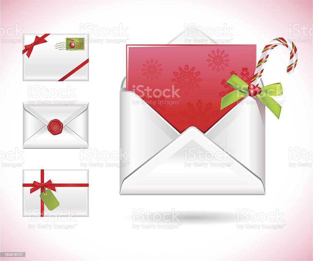 christmas greeting mail royalty-free stock vector art