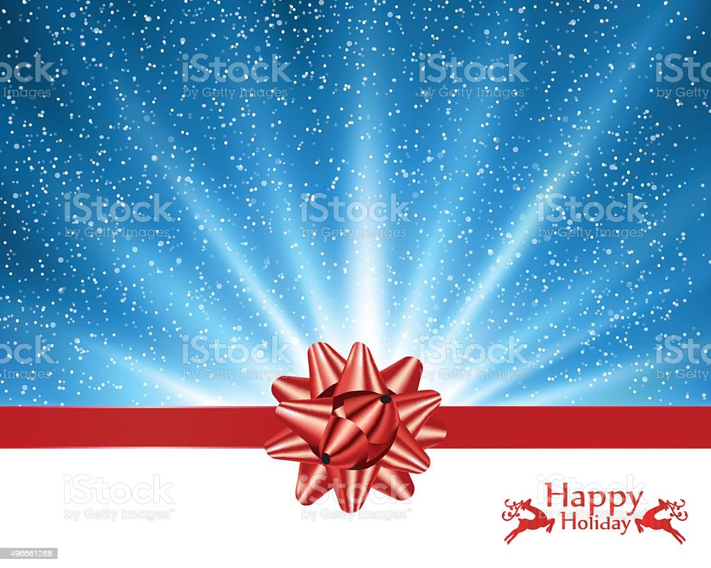 Christmas Greeting vector art illustration