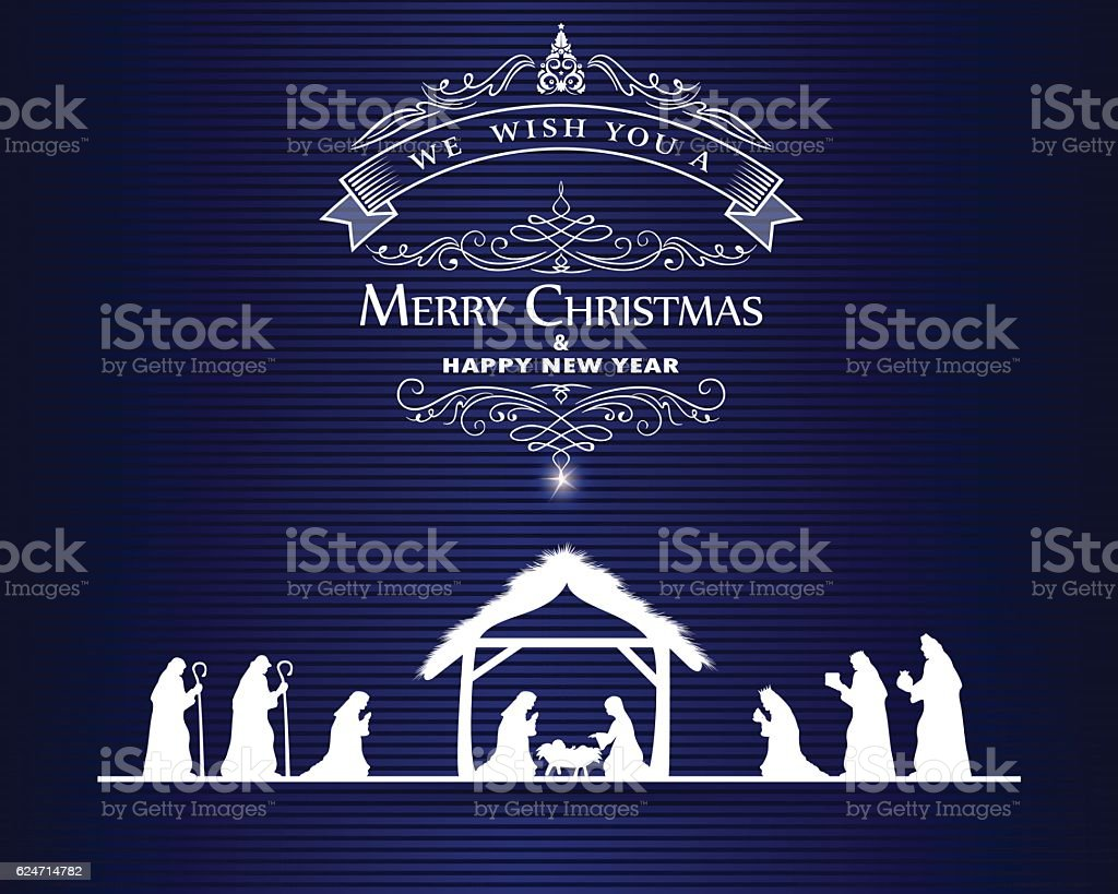 Christmas Greeting vector art illustration
