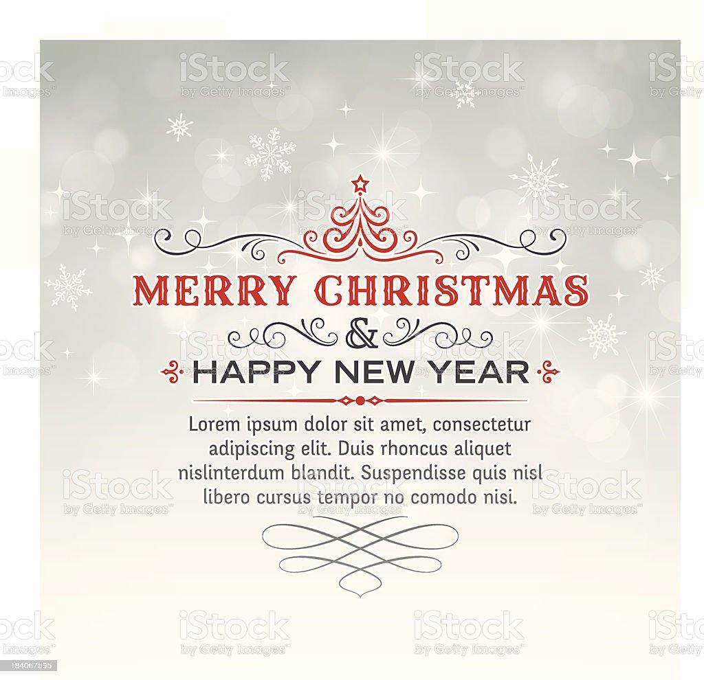 Christmas Greetings Background vector art illustration