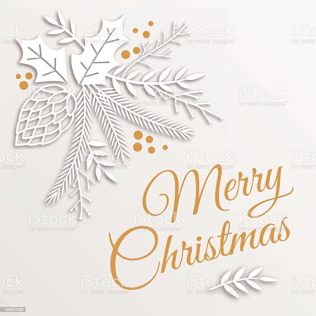 Christmas Greetings vector art illustration
