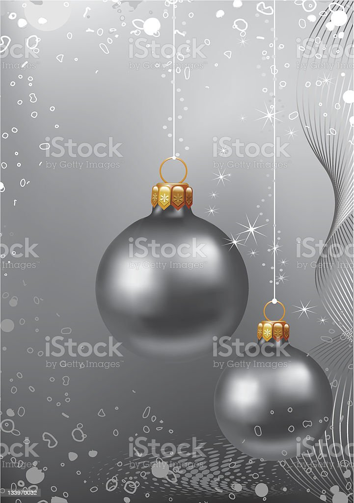 Christmas. Grey background royalty-free stock vector art