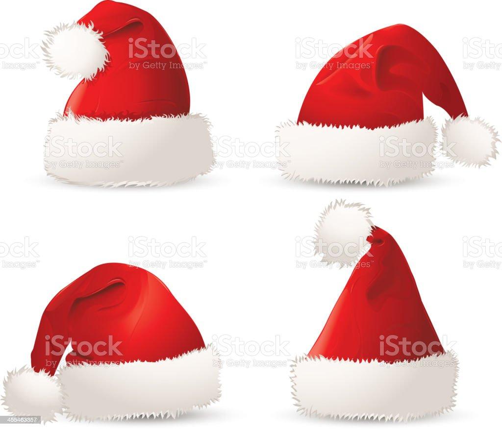 Christmas hat vector art illustration