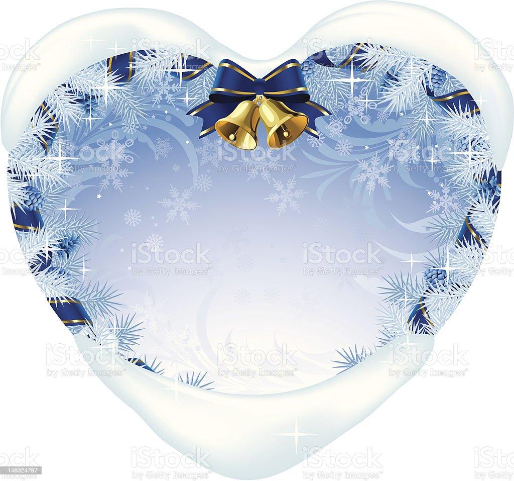 Christmas heart-shaped card royalty-free stock vector art