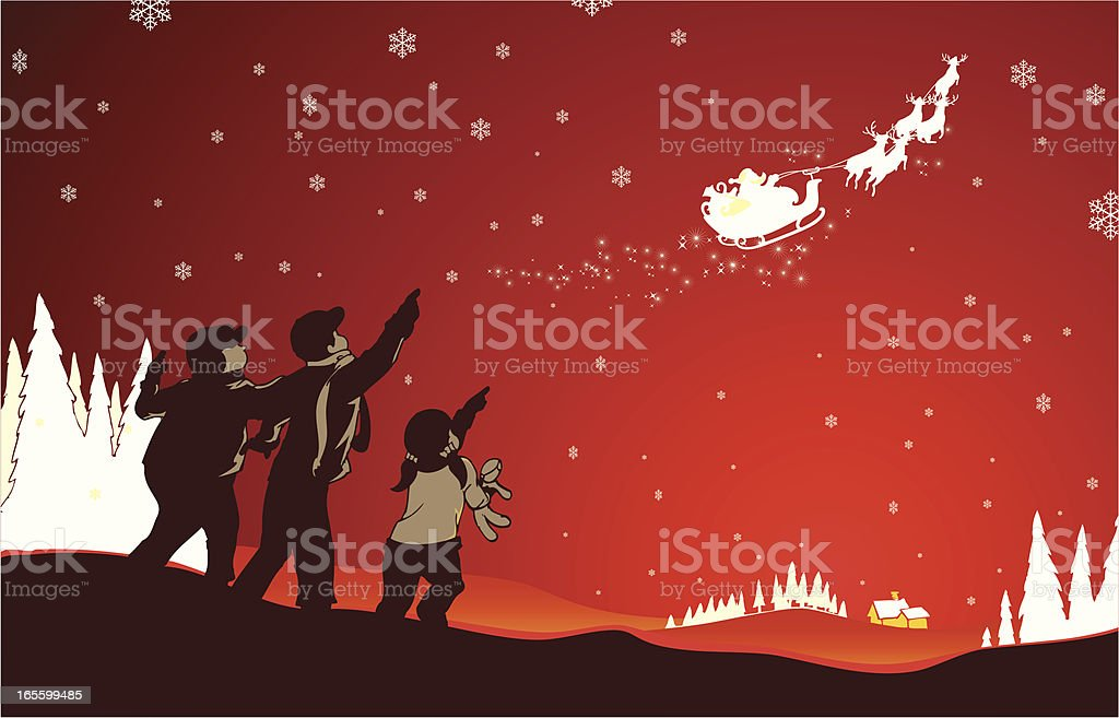 Christmas Holiday Discovery vector art illustration