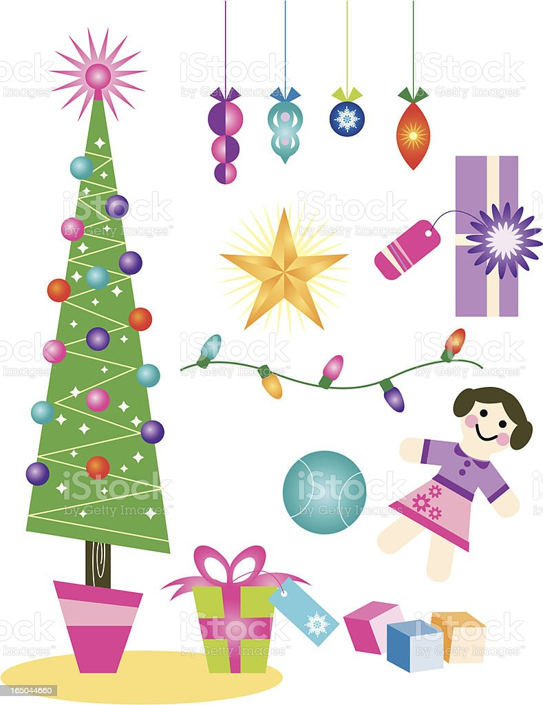 Christmas Holiday Elements Design royalty-free stock vector art