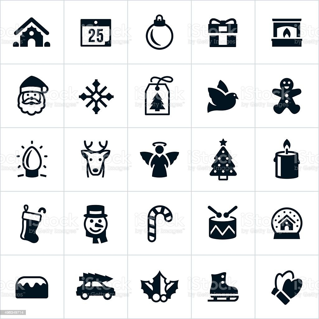 Christmas Holiday Icons vector art illustration