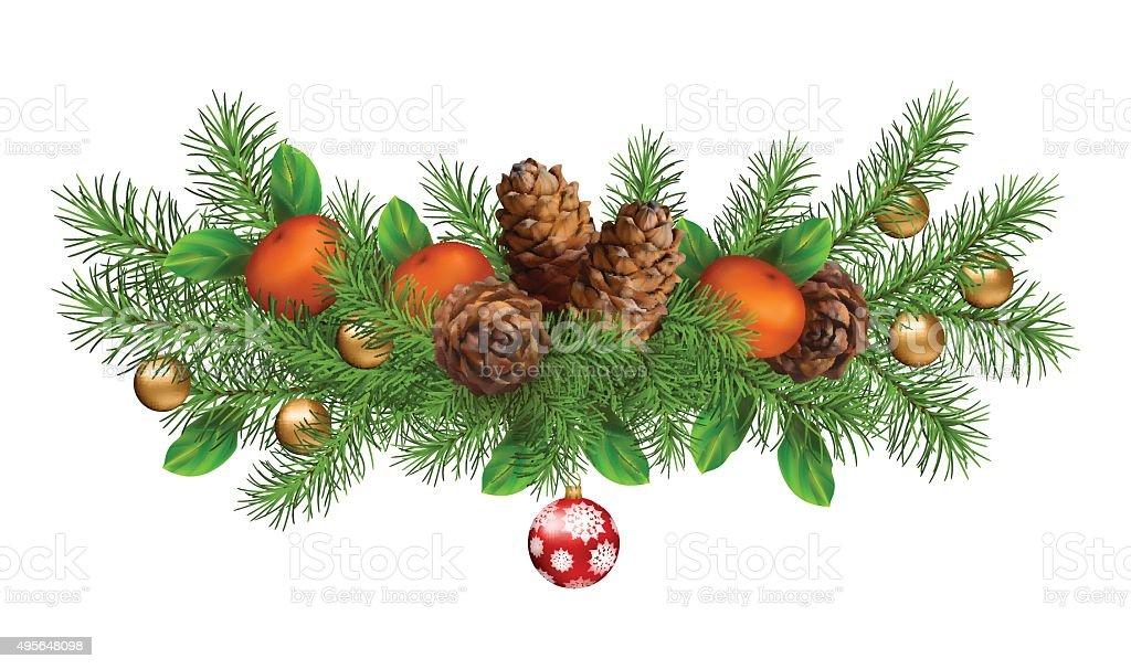 Christmas Holiday Vector Garland vector art illustration