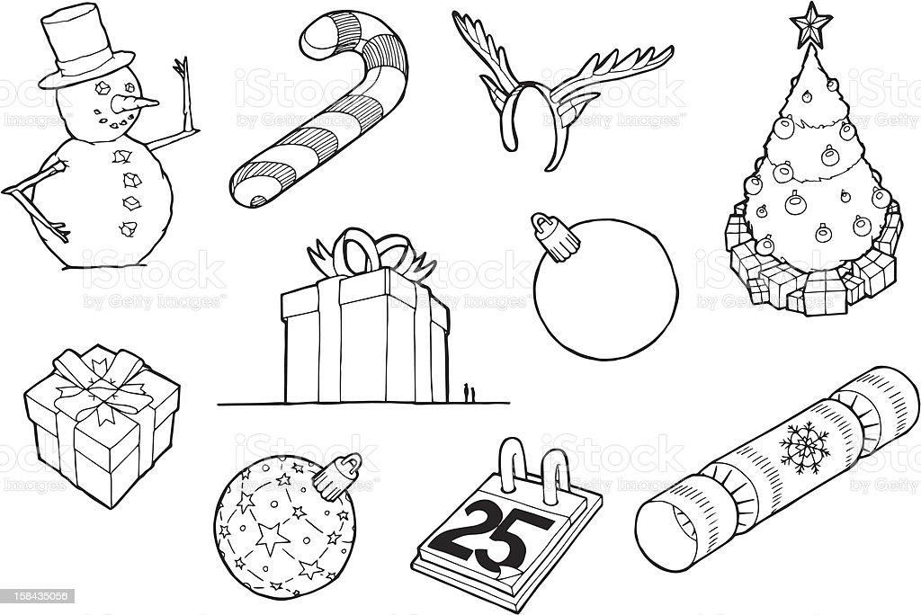 Desenhos de Natal vetor e ilustração royalty-free royalty-free