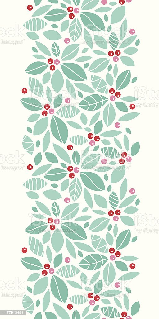 Christmas holly berries vertical seamless pattern background royalty-free stock vector art