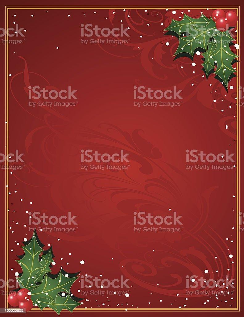 Christmas Holly royalty-free stock vector art