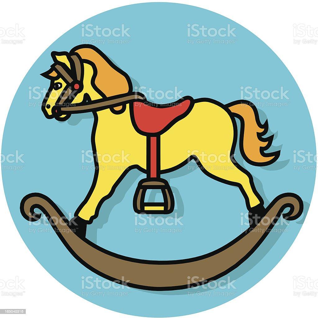 Christmas horse icon vector art illustration