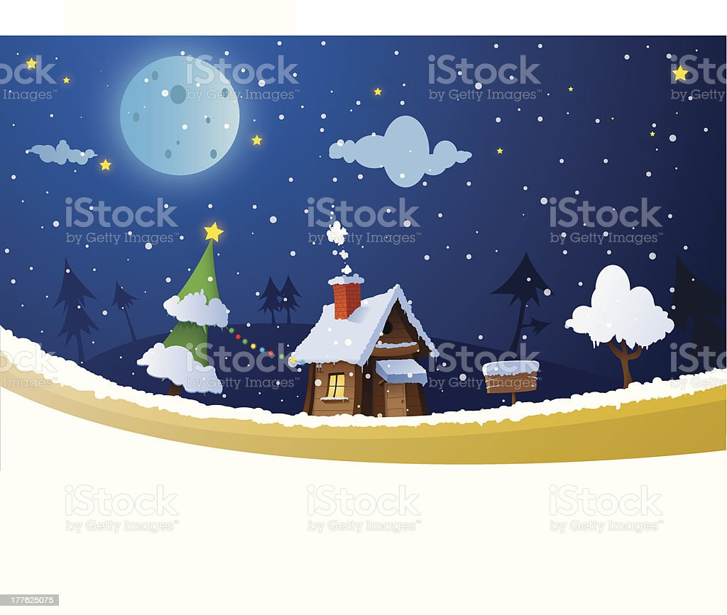 Christmas house royalty-free stock vector art