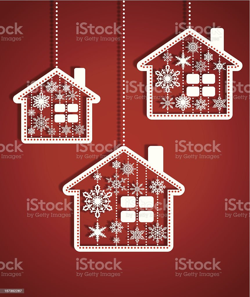 Christmas houses royalty-free stock vector art