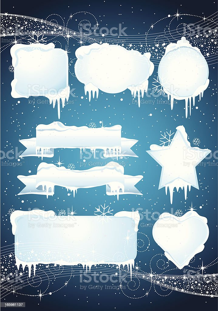 Christmas Ice Banner vector art illustration