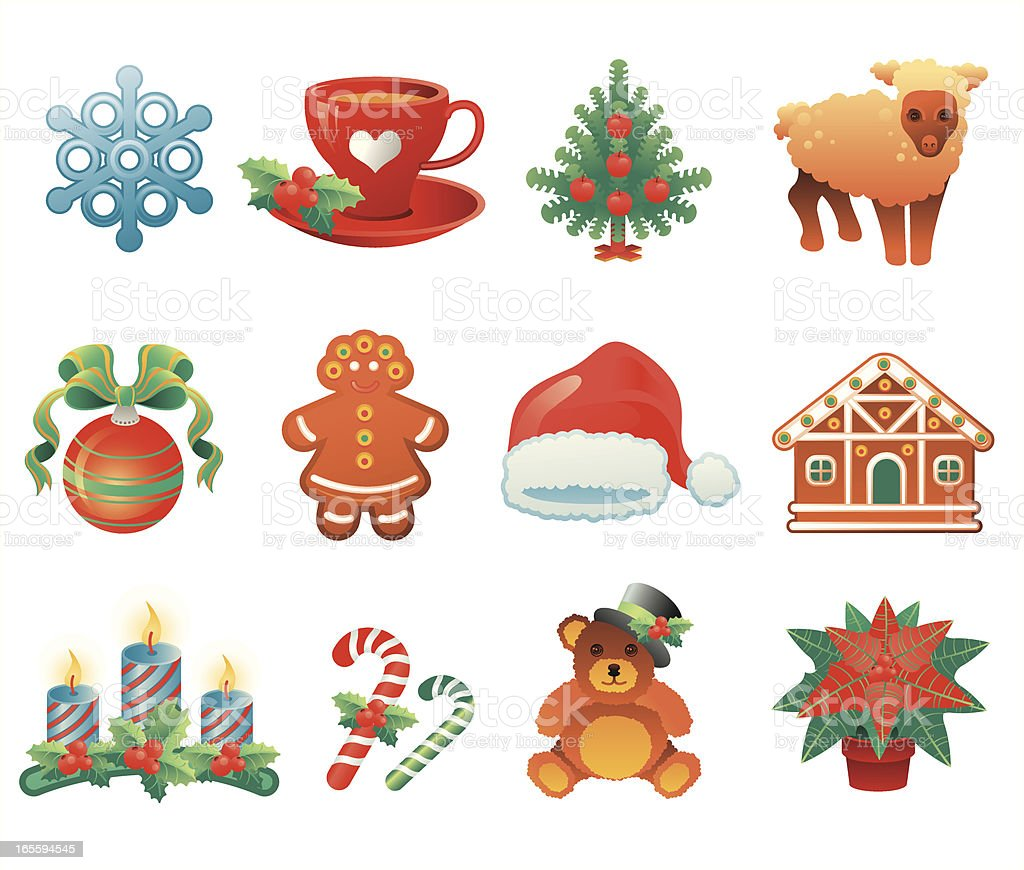 Christmas icon PART 3 vector art illustration