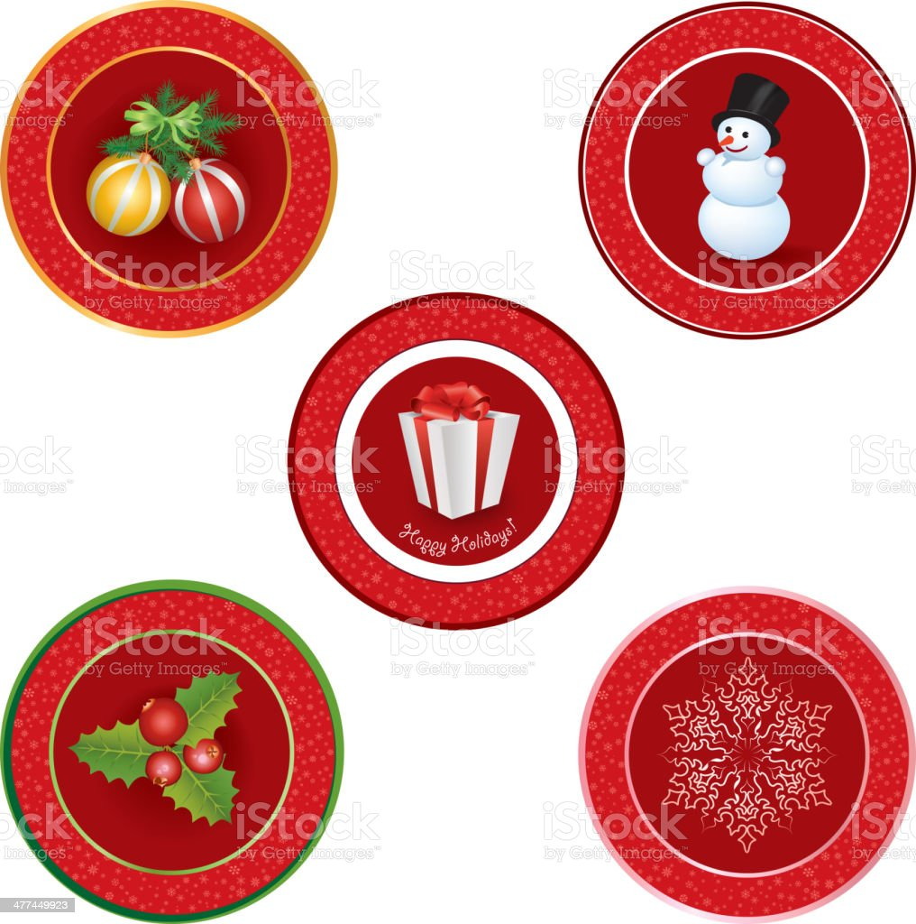 Christmas icon set. Happy New Year symbol vector collection. royalty-free stock vector art