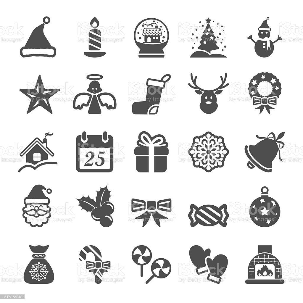 christmas icon set, vector eps10 vector art illustration