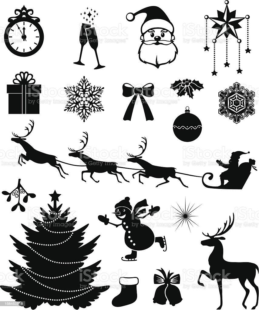 Christmas icon set royalty-free stock vector art