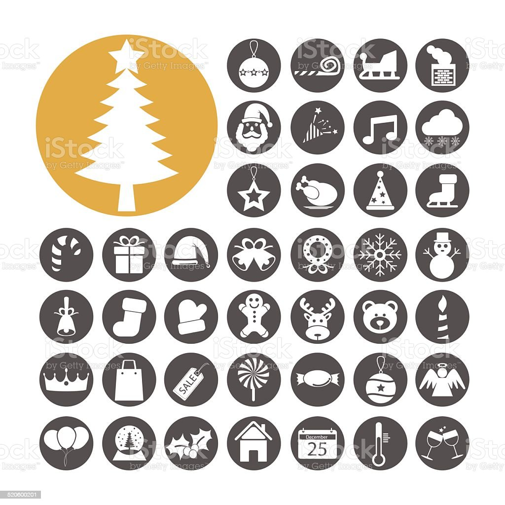 Christmas Icon set vector illustration vector art illustration