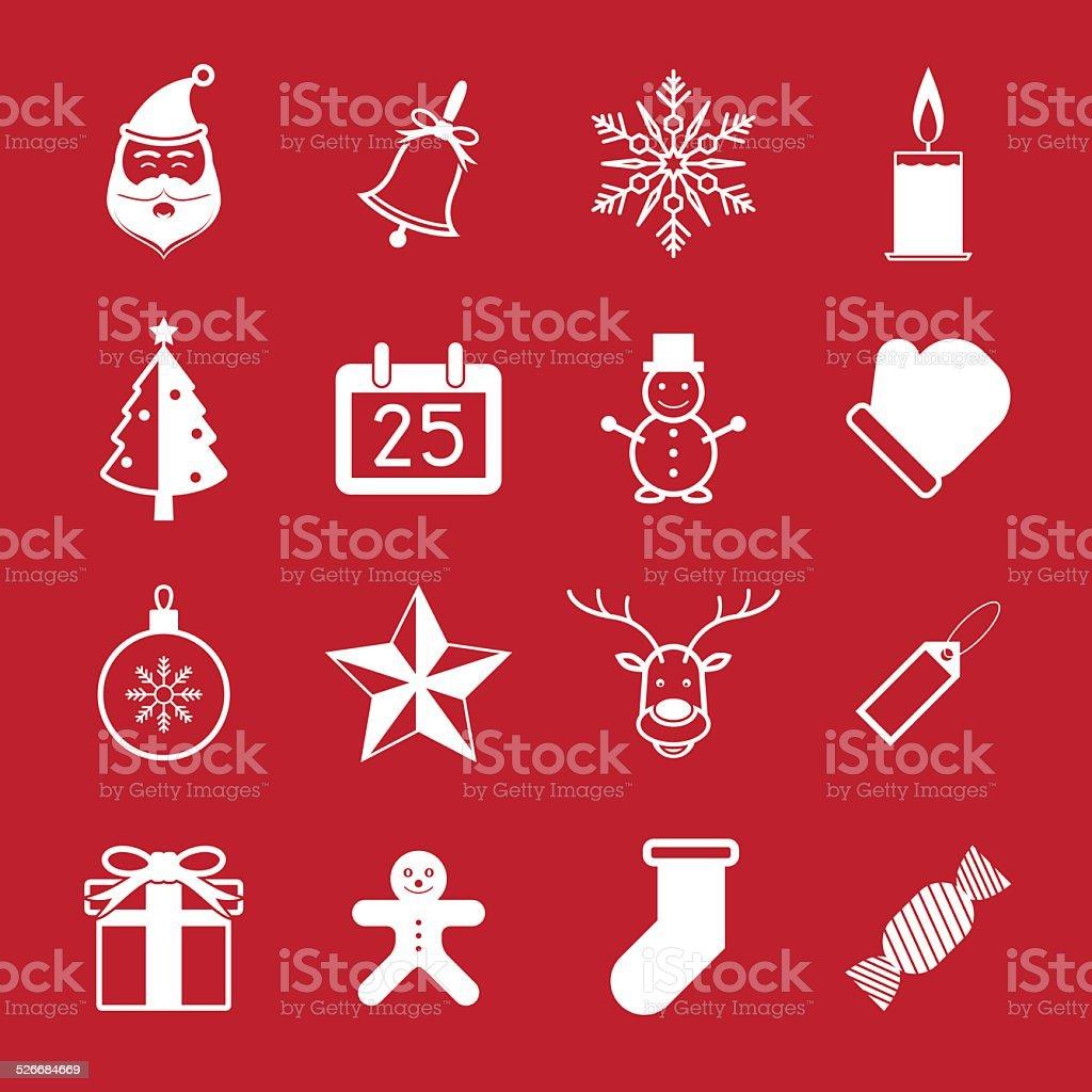 Ensemble d'icônes de Noël vecteur illustration stock vecteur libres de droits libre de droits