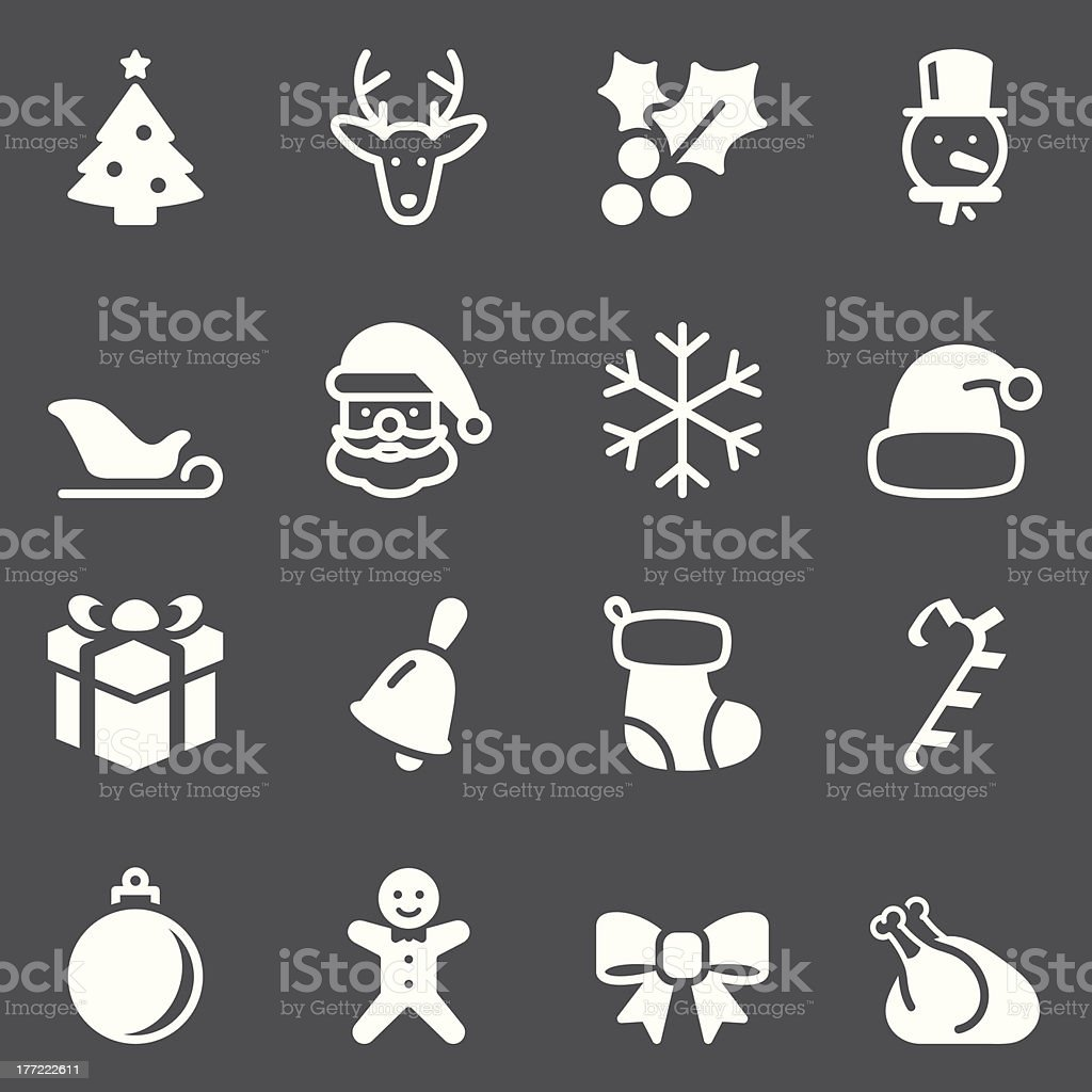 Christmas Icon - White Series royalty-free stock vector art