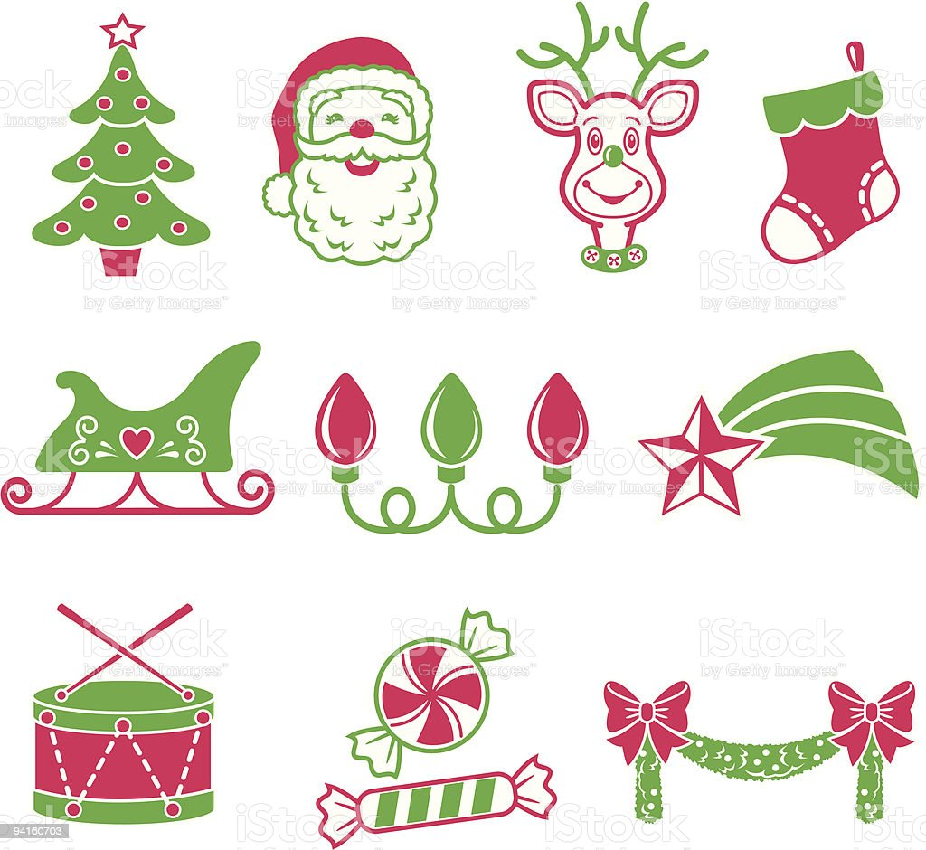 Christmas Icons 1 royalty-free stock vector art