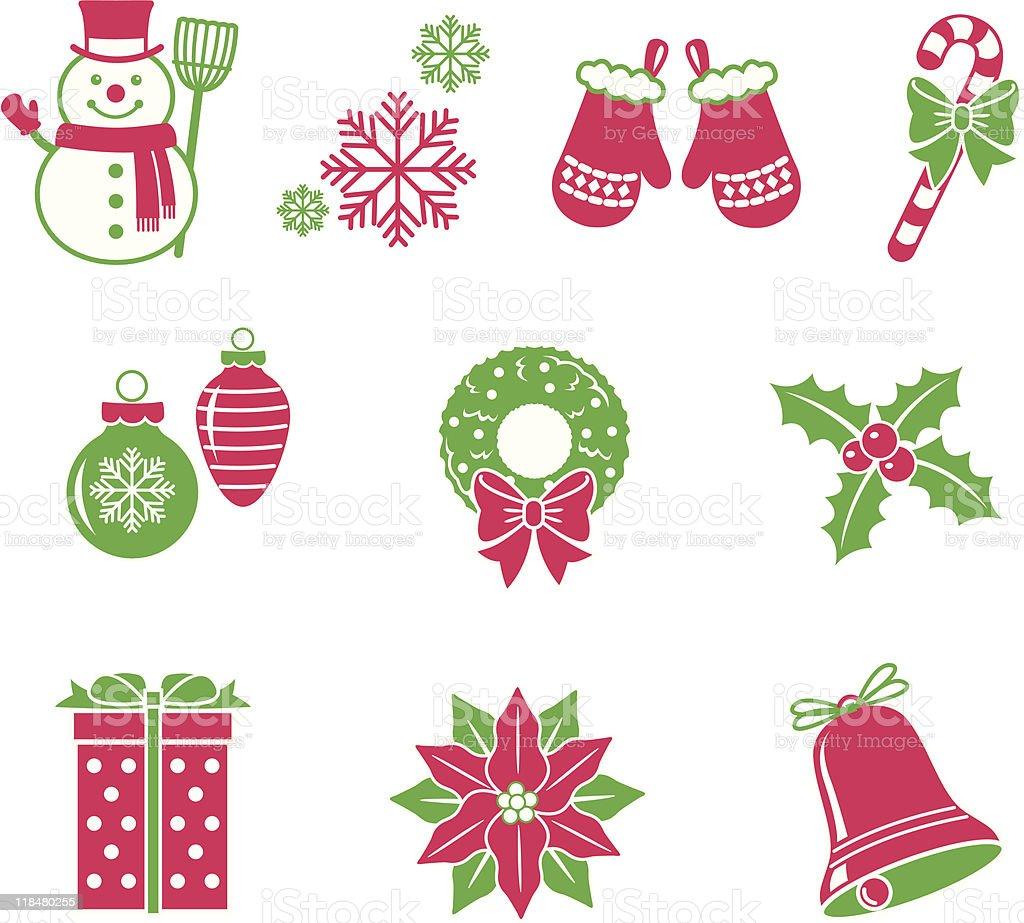 Christmas Icons 2 royalty-free stock vector art