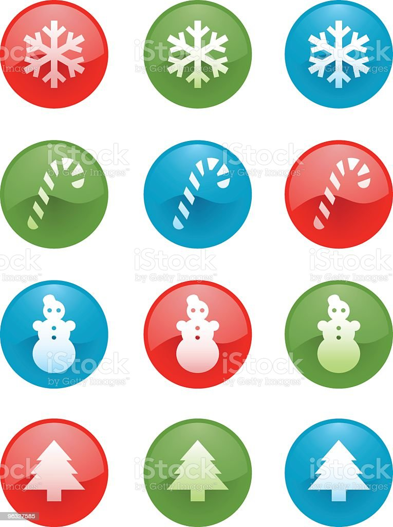 Christmas Icons, badges royalty-free stock vector art
