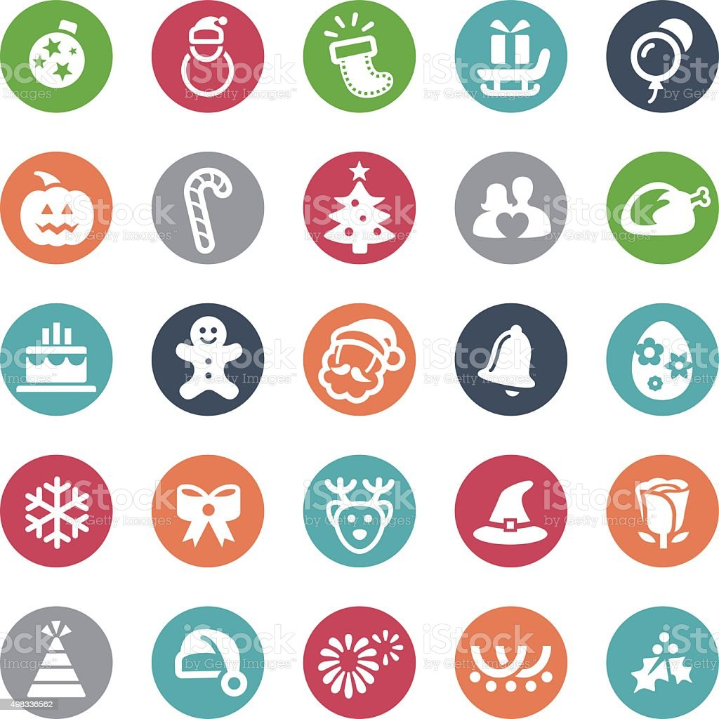 Christmas Icons - Bijou Series vector art illustration