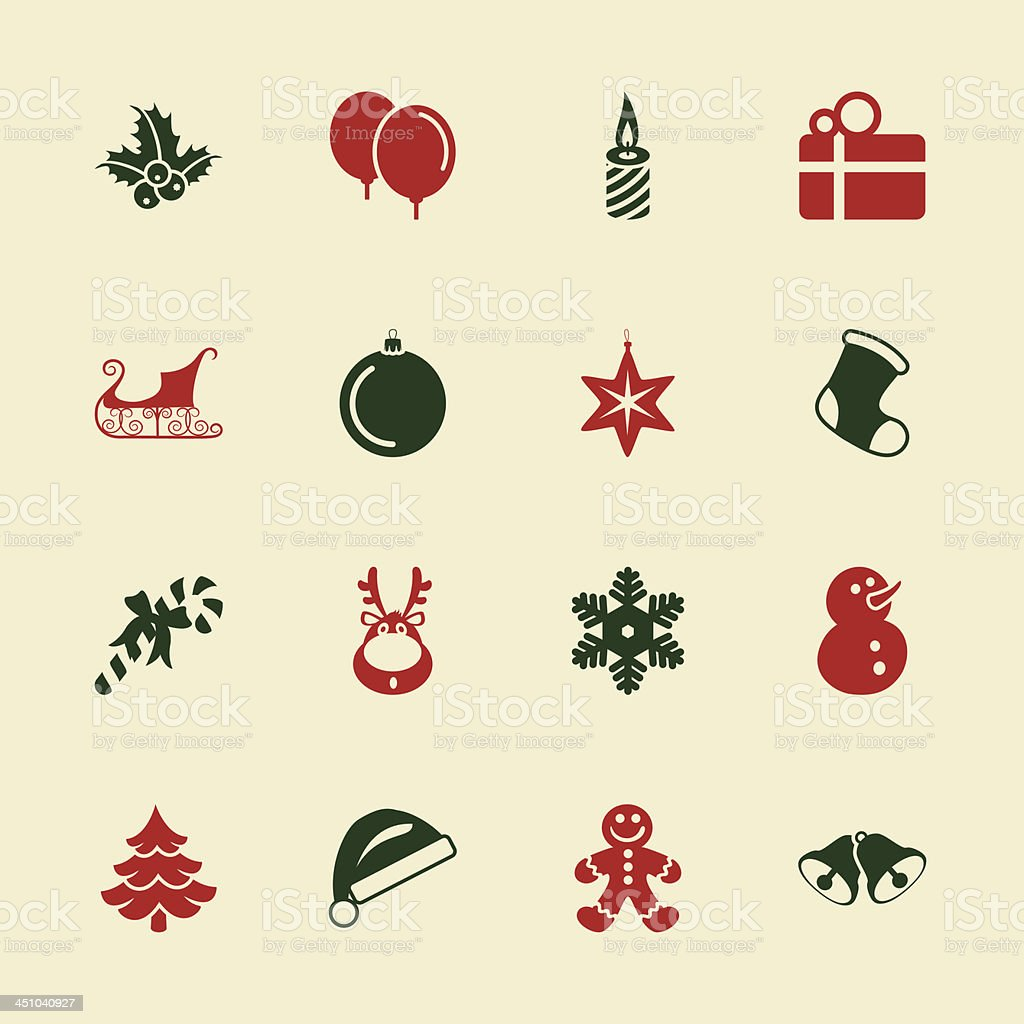 Christmas Icons - Color Series | EPS10 royalty-free stock vector art