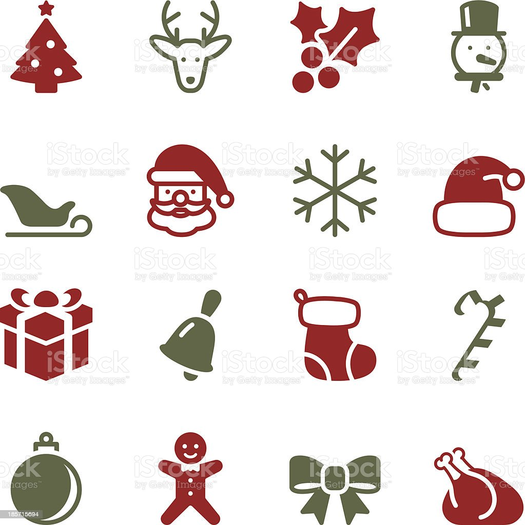 Christmas Icons - Color Series vector art illustration