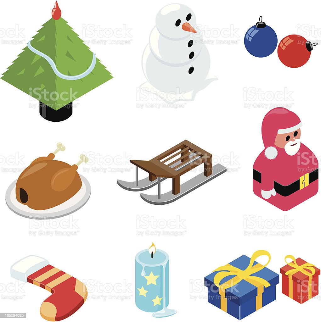 Christmas icons | ISO collection vector art illustration