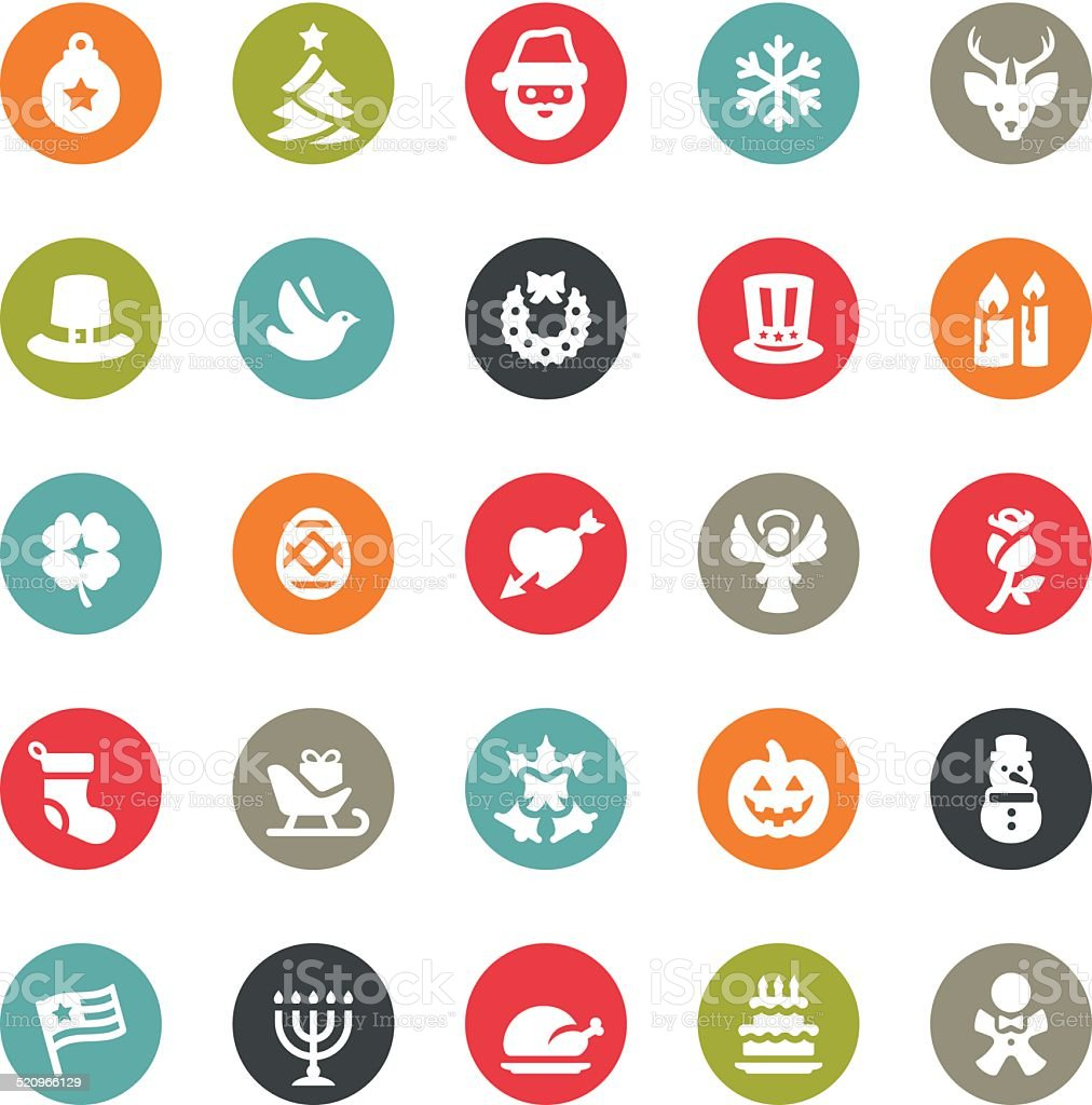 Christmas icons / Ringico series vector art illustration