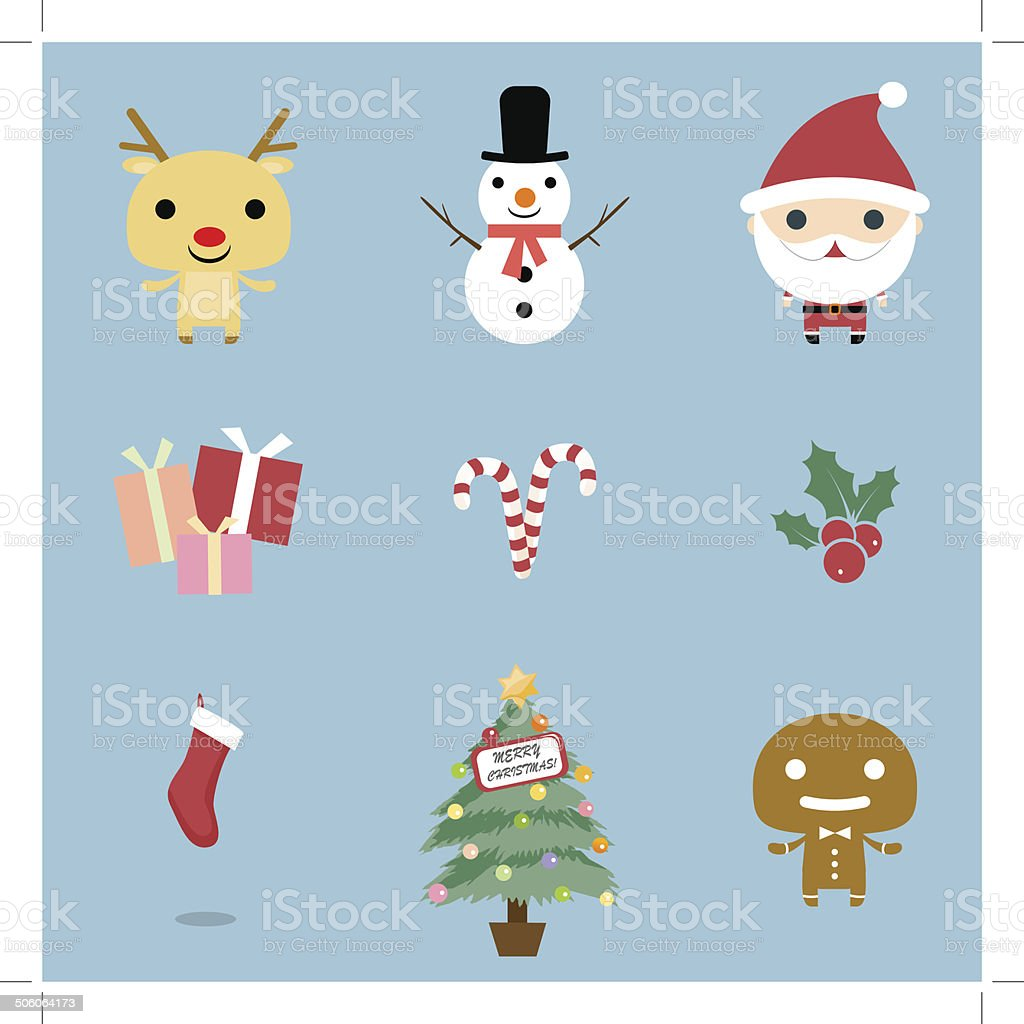 Christmas Icons set royalty-free stock vector art