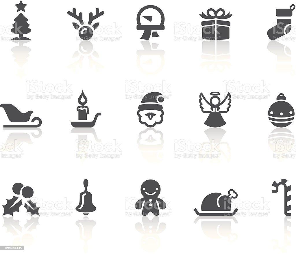 Christmas Icons | Simple Black Series vector art illustration