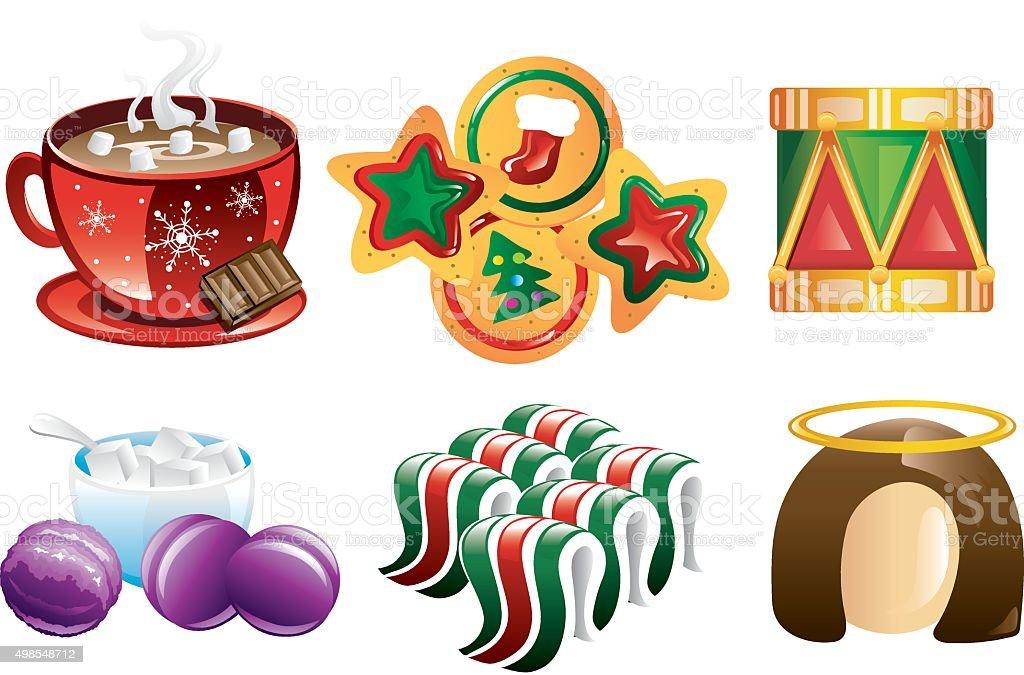 Christmas Icons vector art illustration