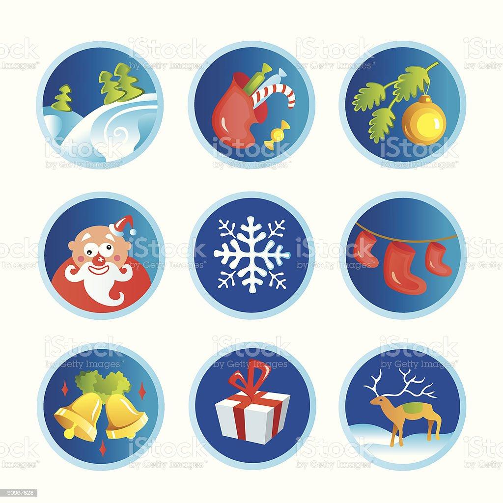 Christmas icons royalty-free stock vector art